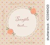 vintage vector postcard for... | Shutterstock .eps vector #423340420