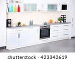 new modern kitchen interior | Shutterstock . vector #423342619