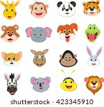 illustration of cute animal... | Shutterstock . vector #423345910