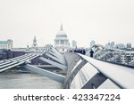 people activity on millenium...   Shutterstock . vector #423347224