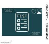 line checkmark icon | Shutterstock .eps vector #423359980