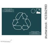 recycle sign isolated  line... | Shutterstock .eps vector #423362983