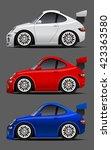 vector modern cartoon car ... | Shutterstock .eps vector #423363580