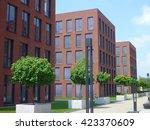 a modern building facade with... | Shutterstock . vector #423370609