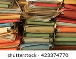 stacked office files  pile of... | Shutterstock . vector #423374770
