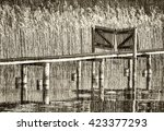 Old Gate At A Jetty