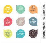 modern badges collection | Shutterstock .eps vector #423385426