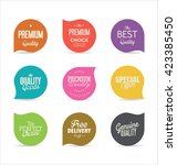 modern badges collection | Shutterstock .eps vector #423385450