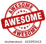 awesome. stamp | Shutterstock .eps vector #423392413
