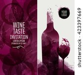 design template background wine ... | Shutterstock .eps vector #423397669
