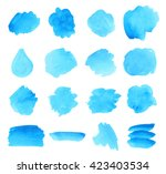 set watercolor paper texture... | Shutterstock .eps vector #423403534