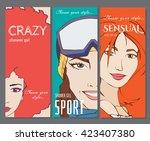 comics style banner  poster ... | Shutterstock .eps vector #423407380