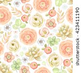 seamless pattern with... | Shutterstock .eps vector #423411190