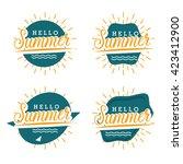 set of retro elements for enjoy ... | Shutterstock .eps vector #423412900