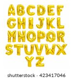 english alphabet from yellow ... | Shutterstock . vector #423417046