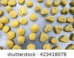 kiln baked pineapple cookies | Shutterstock . vector #423418078