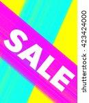 sale poster   Shutterstock .eps vector #423424000