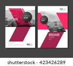 magazine template for cover.  | Shutterstock .eps vector #423426289