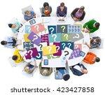 question mark asking curious...   Shutterstock . vector #423427858