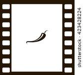 jalapeno peppers symbol | Shutterstock .eps vector #423428224