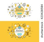 set of modern vector... | Shutterstock .eps vector #423428584