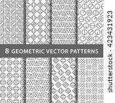 geometric vector pattern pack | Shutterstock .eps vector #423431923