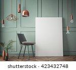 mock up poster with vintage...   Shutterstock . vector #423432748