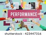 performance efficiency... | Shutterstock . vector #423447316