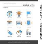 business simple icon set | Shutterstock .eps vector #423454258