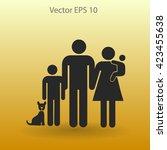 family vector icon | Shutterstock .eps vector #423455638
