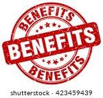 benefits. stamp | Shutterstock .eps vector #423459439