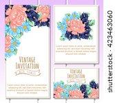 vintage delicate invitation... | Shutterstock . vector #423463060