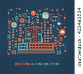 building and construction... | Shutterstock .eps vector #423463534