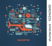 helicopter concept design on... | Shutterstock .eps vector #423463600