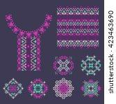 set of decorative elements  in...   Shutterstock . vector #423463690