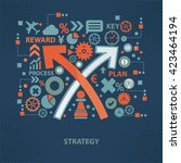 strategy concept design on dark ...