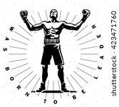 boxing champion.  sport... | Shutterstock .eps vector #423471760
