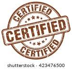 certified. stamp | Shutterstock .eps vector #423476500
