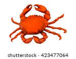 giant crab isolated on white... | Shutterstock . vector #423477064