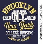 college new york typography  t... | Shutterstock .eps vector #423484438