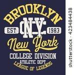 college new york typography  t... | Shutterstock .eps vector #423484438