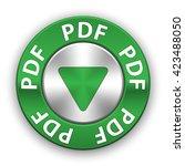 pdf download button  vector