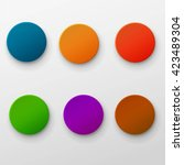 vector set of colorful glossy...   Shutterstock .eps vector #423489304