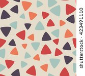 seamless pattern with triangles.... | Shutterstock .eps vector #423491110