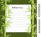 menu template for cafe | Shutterstock .eps vector #423500563