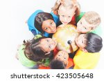 group of international happy... | Shutterstock . vector #423505648