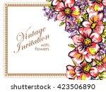 romantic invitation. wedding ...   Shutterstock .eps vector #423506890