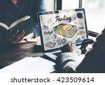 funding banking budget credit... | Shutterstock . vector #423509614