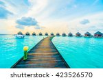 beautiful tropical maldives... | Shutterstock . vector #423526570