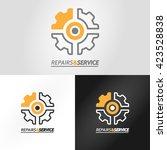 set of logotype for repair or...